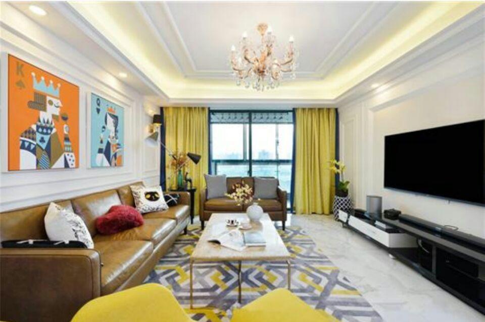 132平米三室二厅现代简约装修风格