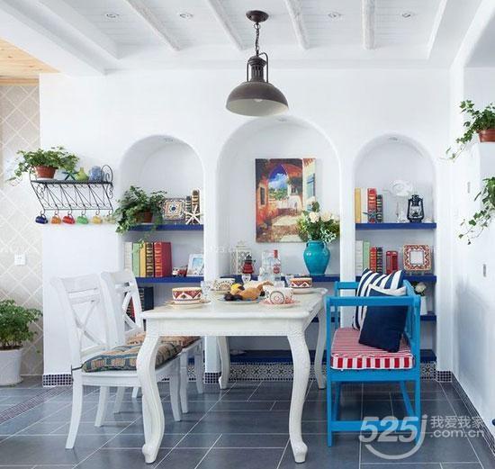 8款地中海风小清新餐厅设计