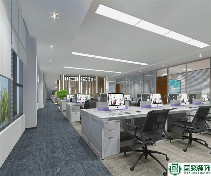 宜彩装饰喜签海珠唯品同创汇457方直播传媒办公室改造装修