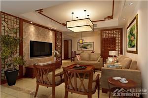隆兴峰景苑中式新房住宅装修设计效果图