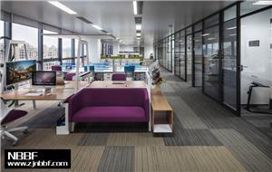 高桥时尚员工区写字楼办公室装修设计效果图