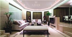 紫色金典中西合璧新房住宅装修设计效果图