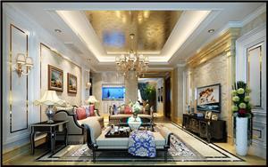 前程藏珑欧式古典新房住宅装修设计效果图