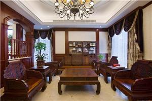 中式古典独栋别墅装修设计效果图