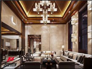 黎香湖中西合璧独栋别墅装修设计效果图