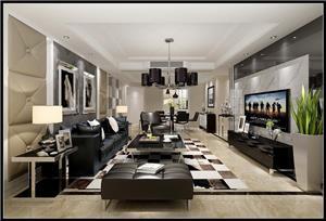 龙湾新村现代新房住宅装修设计效果图