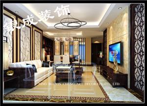 领秀熙城-中式新房住宅装修设计效果图
