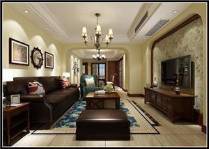 领秀熙城美式新房住宅装修设计效果图