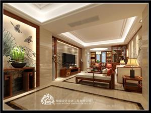 龙腾熙园7栋304中式新房住宅装修设计效果图