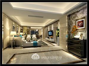 龙腾熙园中式新房住宅装修设计效果图