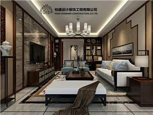 紫云心语中式新房住宅装修设计效果图