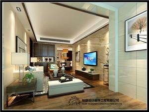 嘉晟B梯2208客厅中式新房住宅装修设计效果图