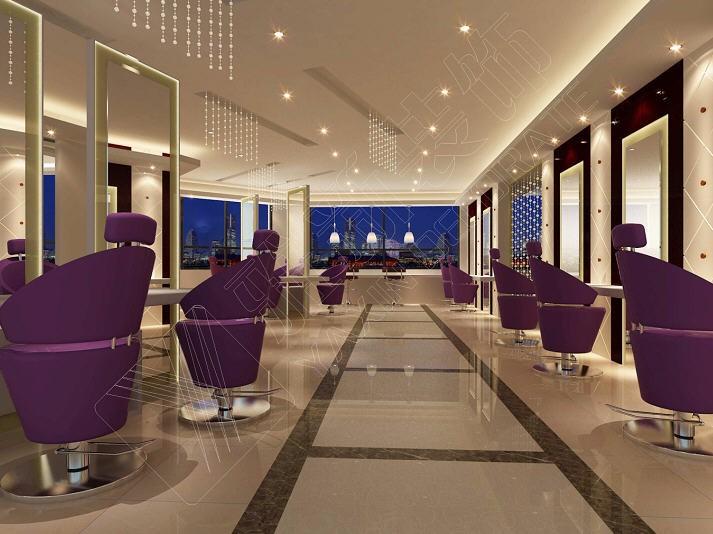 美容美发理发店发廊-广州新尚发廊-理发店美发现代美容会所装修设计