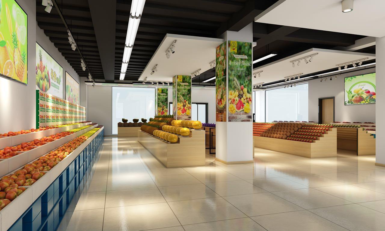 水果店现代商业店铺装修设计效果图