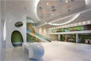 药业公司现代写字楼办公室装修设计效果图