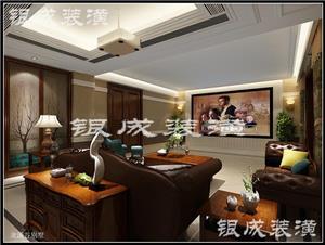 龙溪谷美式别墅装修设计效果图