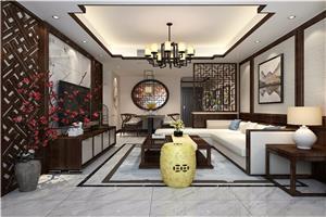 嘉利玫瑰园新中式新房住宅装修设计效果图
