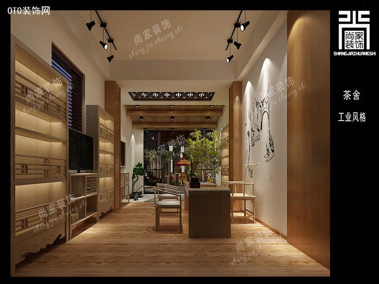 澄海茶庄禅意商业店铺装修设计效果图图片