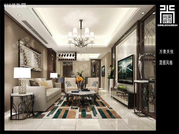 澄海万景天悦120平方现代新房设计