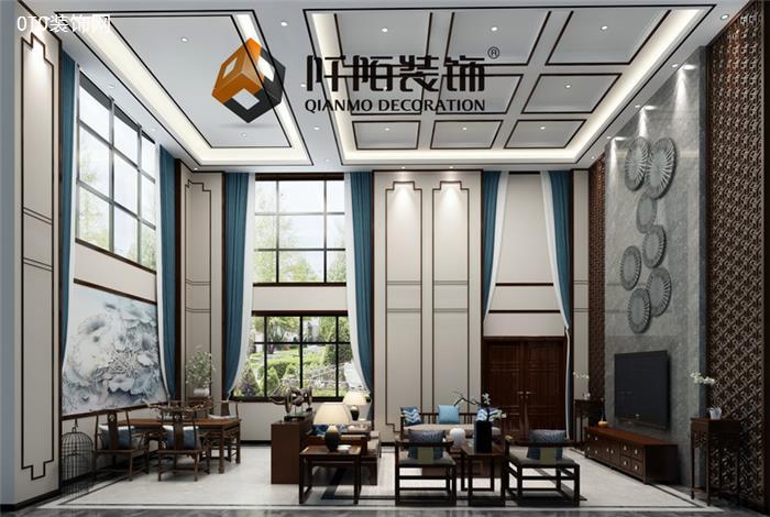 自建别墅新中式装修设计效果图