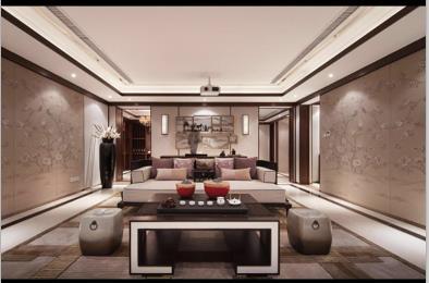 香颂湾中式独栋别墅装修设计效果图