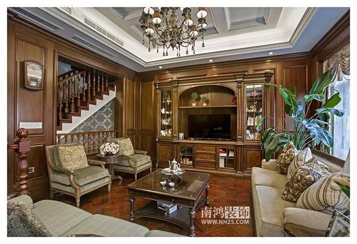 雍城世家美式独栋别墅装修设计效果图