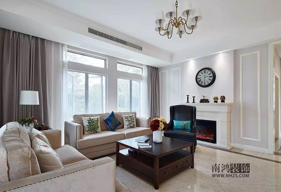 雍城世家美式新房住宅装修设计效果图