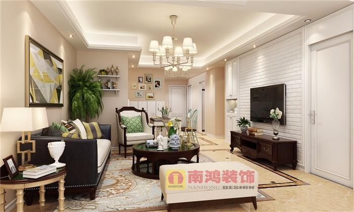 莲桥府美式新房住宅装修设计效果图
