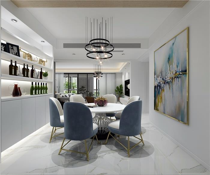 栖海花园现代新房住宅装修设计效果图