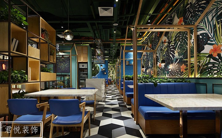 三水广场餐馆餐餐厅自然幽雅商业店铺装修设计效果图
