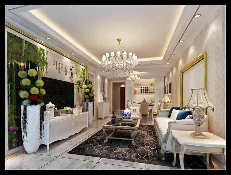 三水愽雅滨江108平方米户型总装修适价13.8万元现代新房住宅装修设计效果图