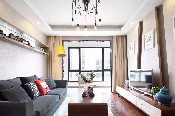 美的蝴蝶海简约新房住宅装修设计效果图
