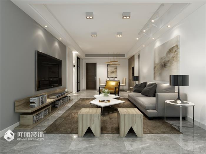 汇豪时代现代新房住宅装修设计效果图
