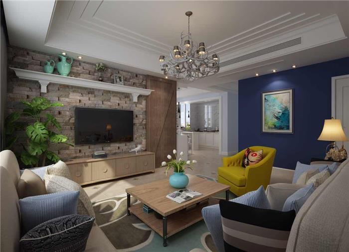 保利城二期北欧新房住宅装修设计效果图