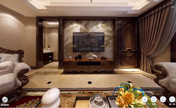 黄山豪庭欧式新房住宅装修设计效果图