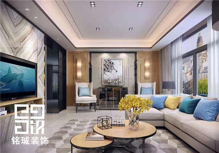 金丰阳光现代轻奢复式住宅装修设计效果图