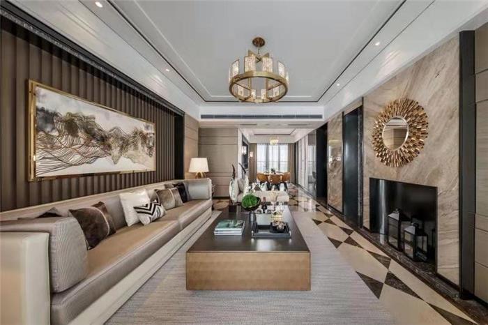 保亿风景九园新中式新房住宅装修设计效果图