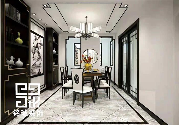 世茂天慧中式新房住宅装修设计效果图