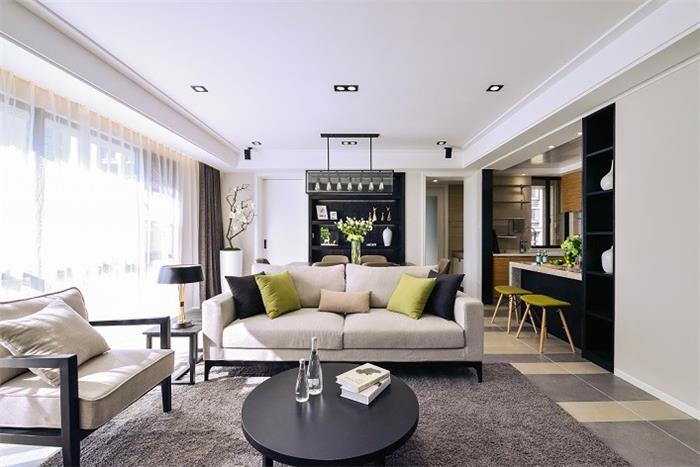 荣安月园简约新房住宅装修设计效果图