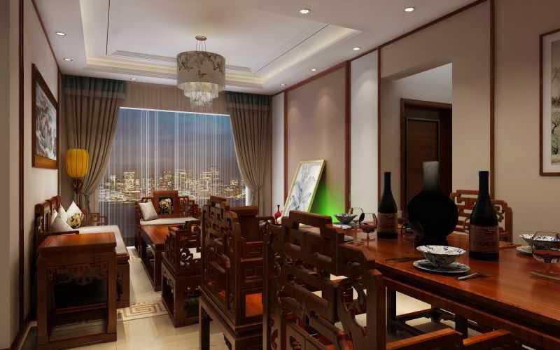 中信山语湖燕姐中式新房住宅装修设计效果图
