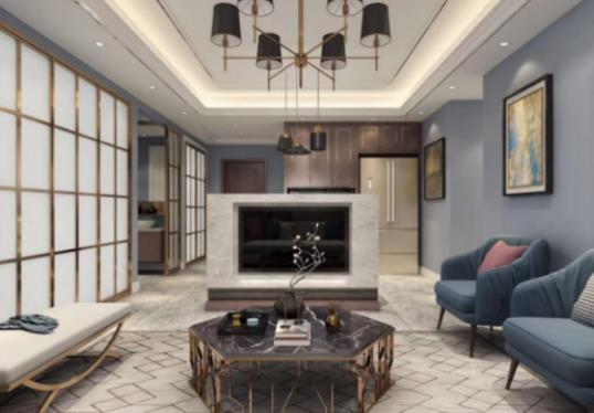 轻奢现代新房住宅装修设计效果图