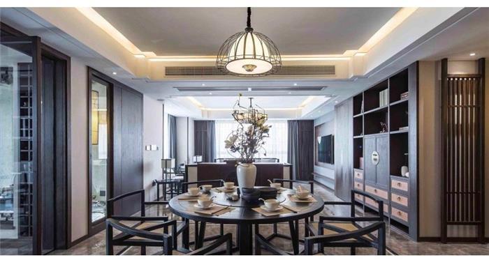 江湾城中式新房住宅装修设计效果图
