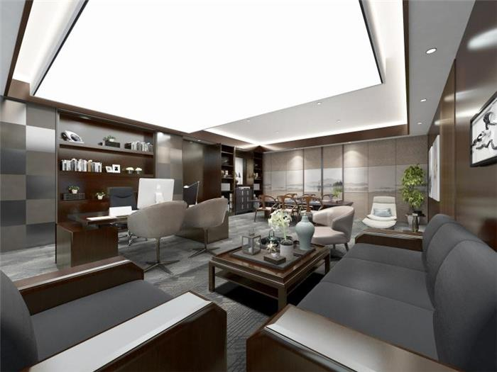 办工空间装修设计-博地中心办公室-简洁 大气 通透风格办公空间