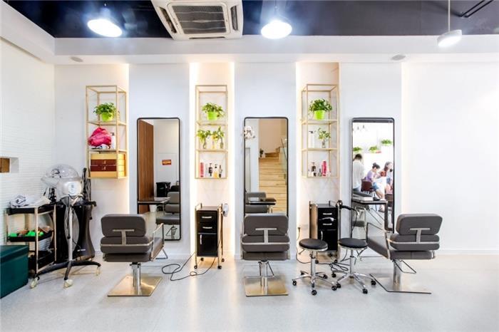 混搭美容会所装修设计效果图-漂亮宝贝美发店-新中式与现代简约设计