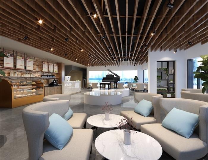 日式写字楼办公室装修设计效果图-新墨书院办公空间整体设计装修