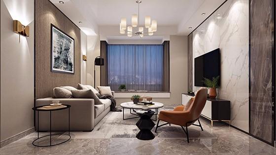 现代独栋别墅装修设计效果图-枫丹壹号现代简约别墅装修