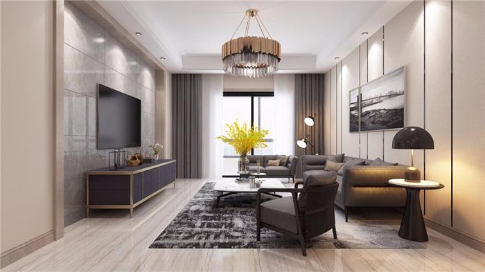 现代独栋别墅装修设计效果图-现代简约高端别墅装饰实景案例