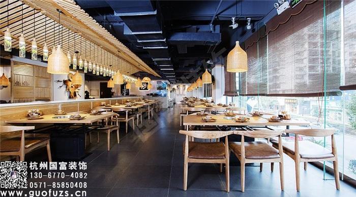 中式餐厅酒楼装修设计效果图-中式风格火锅店装修设计