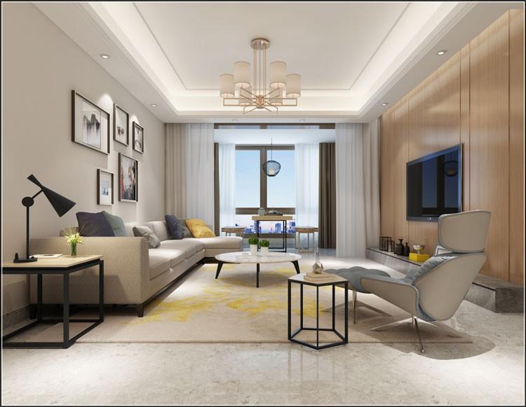 钱塘大观-现代简约-简约新房住宅装修设计效果图