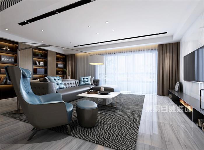 望角城-现代简约风格-简约新房住宅装修设计效果图